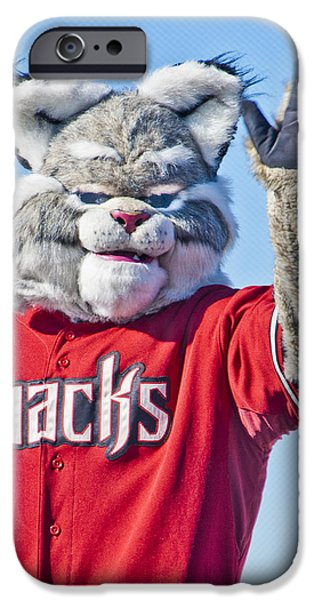 Diamondbacks Mascot Baxter iPhone Case by Jon Berghoff