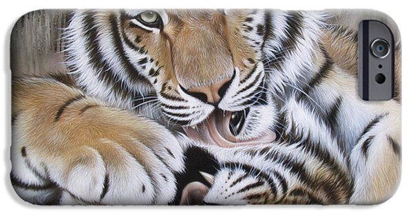 Airbrush iPhone Cases - Dianas Duo iPhone Case by Sandi Baker