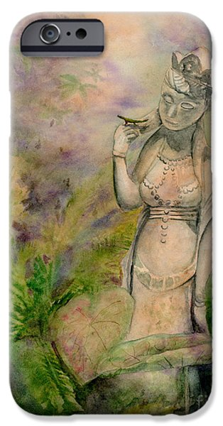 Bodhisattva iPhone Cases - Dianas Garden iPhone Case by Amy Kirkpatrick