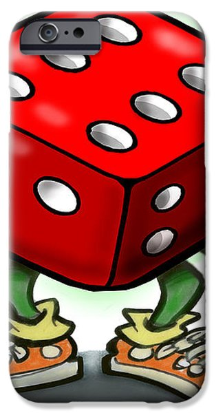 Dice iPhone Case by Kevin Middleton