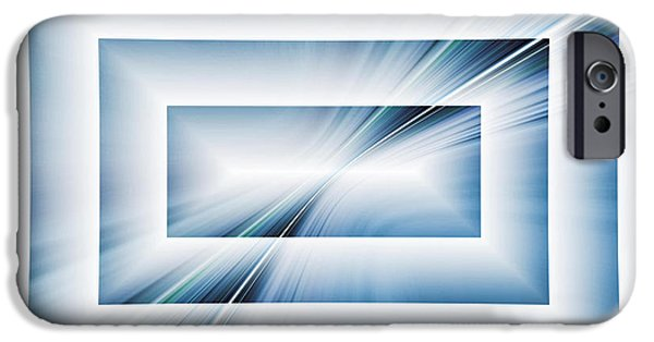 Abstractions iPhone Cases - Diffraction iPhone Case by Tom Druin