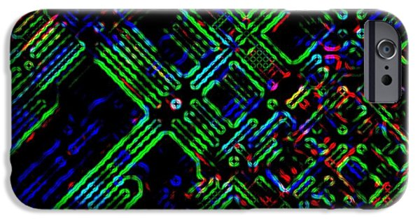 Electrical Component iPhone Cases - Diffusion Component iPhone Case by Will Borden
