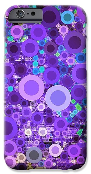 Abstract Digital iPhone Cases - Digi 42.4 iPhone Case by Brittany Houchin
