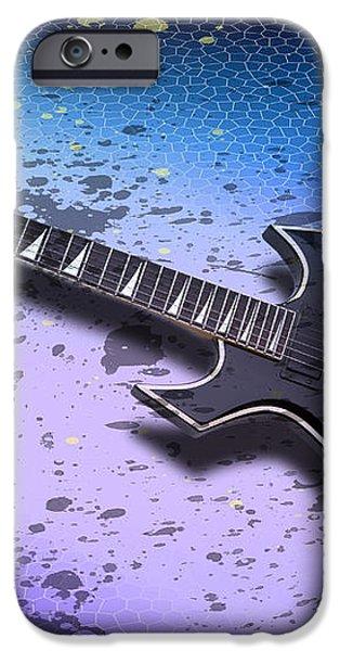 Digital-Art E-Guitar II iPhone Case by Melanie Viola