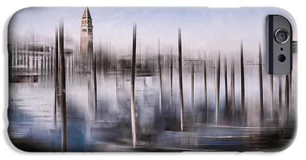 Abstract Sights Digital iPhone Cases - Digital-Art VENICE Grand Canal and St Marks Campanile iPhone Case by Melanie Viola