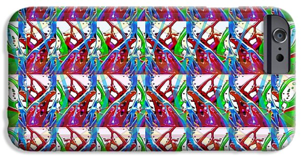 Modern Abstract iPhone Cases - Digital experiments April 2015 Abstract dance flow pattern modern signature art graphic using multip iPhone Case by Navin Joshi