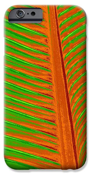Red Abstract iPhone Cases - Digital Garden iPhone Case by Bobbie Barth