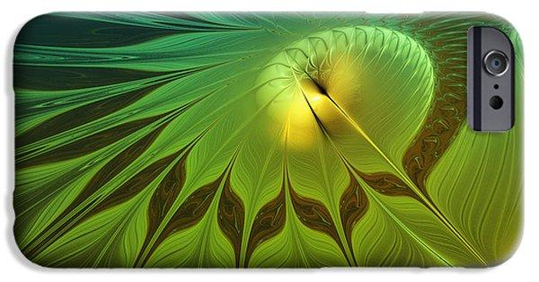 Fractal iPhone Cases - Digital Nature iPhone Case by Jutta Maria Pusl