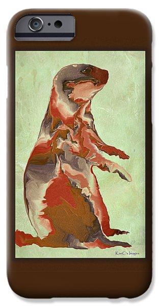 Prairie Dogs iPhone Cases - Digital Prairie Dog iPhone Case by Kae Cheatham