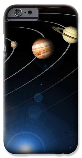 Digitally Generated Image Of Our Solar iPhone Case by Stocktrek Images