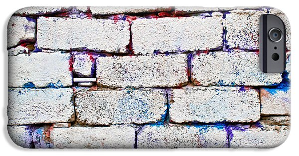 Weed Line iPhone Cases - Dilapidated brick wall iPhone Case by Tom Gowanlock