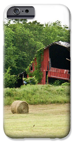 Dilapidated Old Red Barn iPhone Case by Douglas Barnett