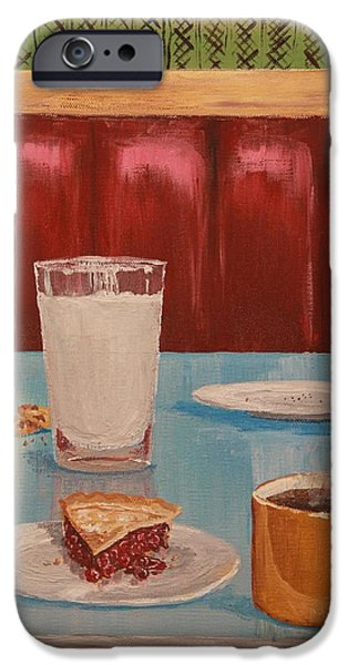 Business Paintings iPhone Cases - Diner Booth iPhone Case by Nathan Ryan