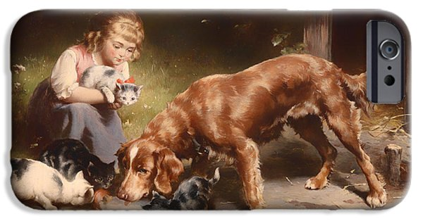 Little Girl iPhone Cases - Dinner Party iPhone Case by Carl Reichert