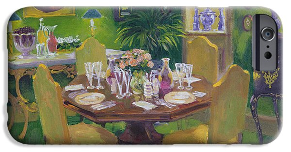 Table Wine iPhone Cases - Dinner Party iPhone Case by William Ireland