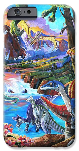 Dinosaur iPhone Case by Nadi Spencer