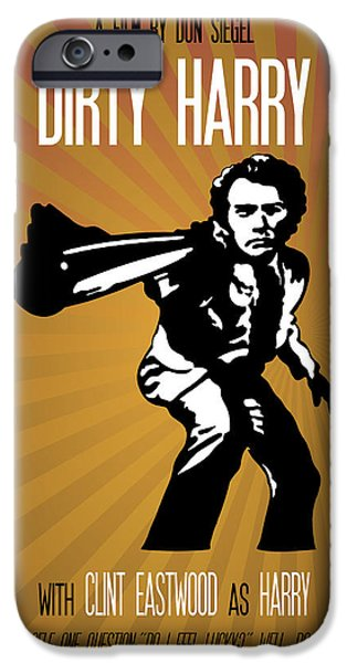 Police Art iPhone Cases - Dirty Harry Go Ahead Make My Day iPhone Case by Florian Rodarte