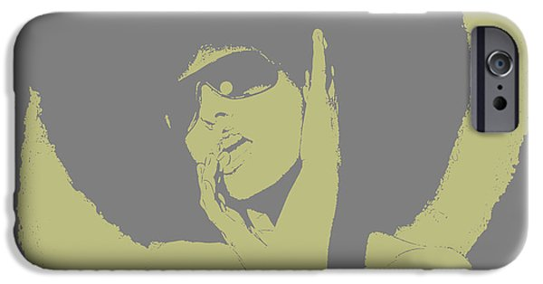Model Digital Art iPhone Cases - Disco Green iPhone Case by Naxart Studio