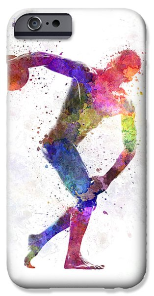 Disc Paintings iPhone Cases - Discobolus iPhone Case by Pablo Romero