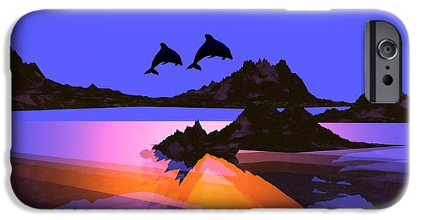 Porpoise iPhone Cases - Discovery iPhone Case by Robert Orinski