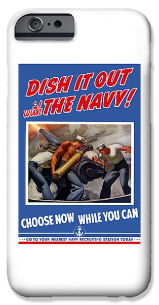 Navy iPhone Cases - Dish It Out With The Navy iPhone Case by War Is Hell Store
