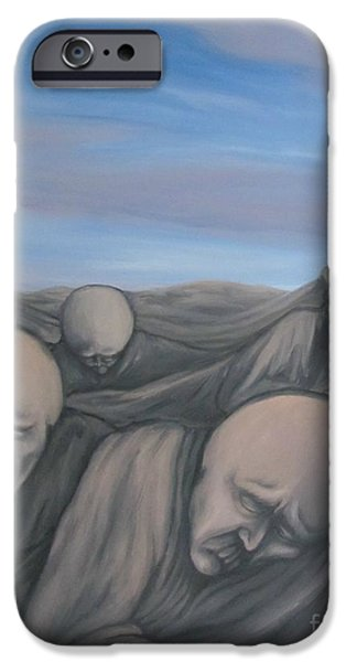 Dismay Paintings iPhone Cases - Dismay iPhone Case by Michael  TMAD Finney