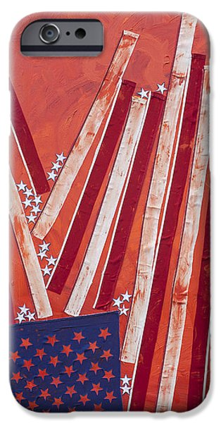 Star Spangled Banner Paintings iPhone Cases - Dissecting Union v. Liberty iPhone Case by Steve Hartman