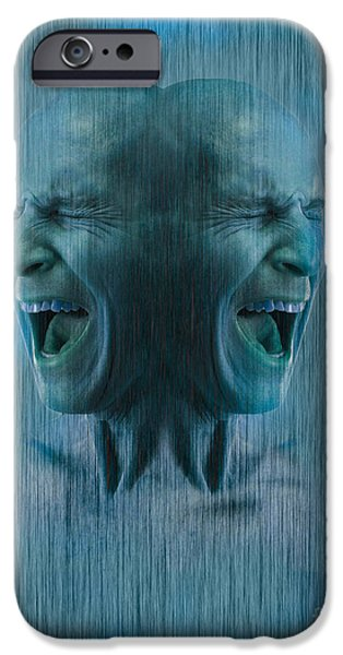 Multiple Identities iPhone Cases - Dissociative Identity Disorder iPhone Case by George Mattei