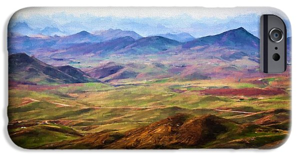 Mounds iPhone Cases - Distance mountain view iPhone Case by Desislava Panteva