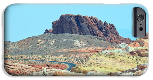 Red Rock Tapestries - Textiles iPhone Cases - Distant Road iPhone Case by Edna Weber