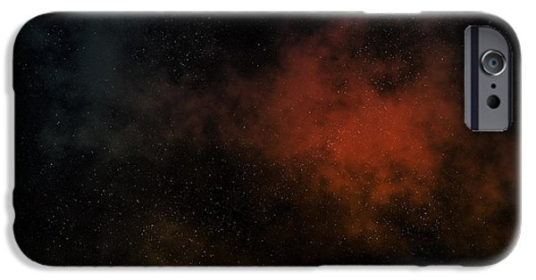 Macrocosm iPhone Cases - Distant Nebula iPhone Case by Michal Boubin