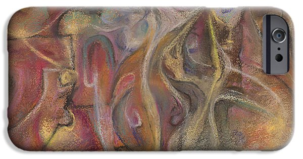 Organic Pastels iPhone Cases - Distortions of the Cerebral Cortex iPhone Case by Tom Kecskemeti