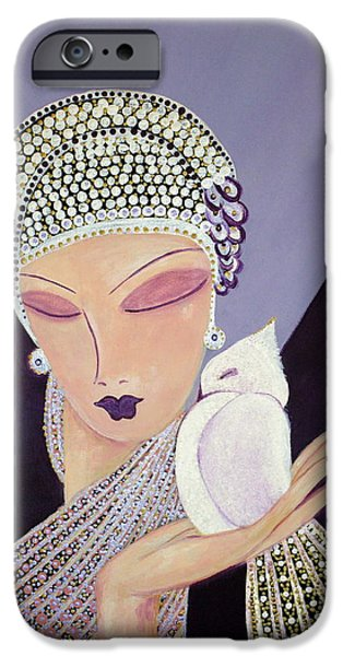 Dressing Room Paintings iPhone Cases - Diva iPhone Case by Cheryl Ward