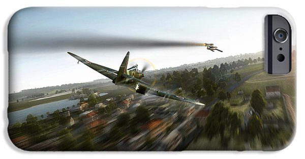 Wwi iPhone Cases - Diver Chase iPhone Case by Peter Van Stigt