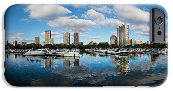 Sears Tower iPhone Cases - Diversey Harbor Chicago iPhone Case by Steve Gadomski