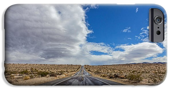 Mountain Road iPhone Cases - Divided Highway iPhone Case by Peter Tellone