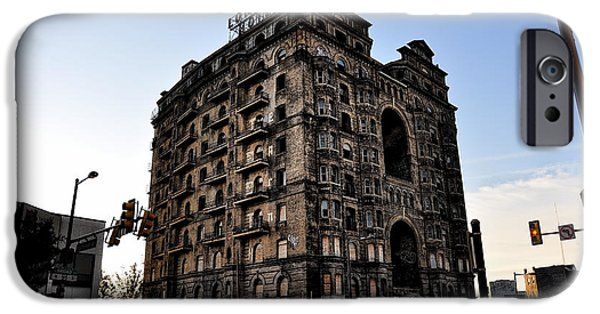 Ruins Digital Art iPhone Cases - Divine Lorraine Hotel iPhone Case by Bill Cannon