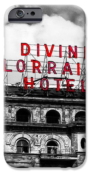 Divine Lorraine Hotel Marquee iPhone Case by Bill Cannon