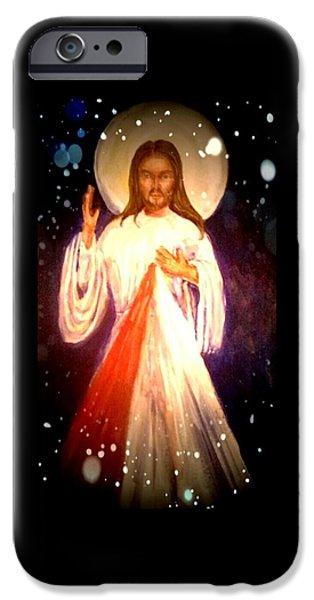 Divine Mercy iPhone Cases - Divine Mercy iPhone Case by Patricia Ducher