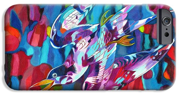 Fauna iPhone Cases - Diving Bird iPhone Case by Jane Tattersfield