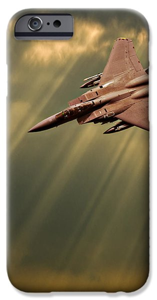 Diving Eagles iPhone Case by Meirion Matthias