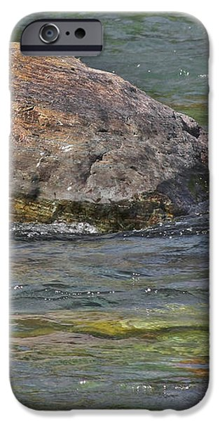 Diving Turtle Rock - Flathead River Middle Fork MT iPhone Case by Christine Till