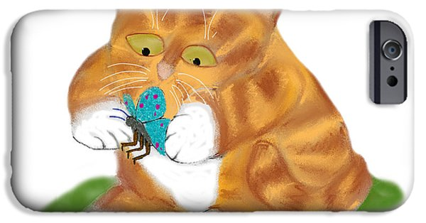 The Tiger iPhone Cases - Do Not Squish the Butterfly iPhone Case by Ellen Miffitt