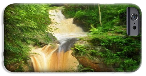Central Massachusetts iPhone Cases - Doanes Falls in Royalston iPhone Case by Mitchell R Grosky