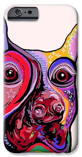 Doberman iPhone Case by Eloise Schneider