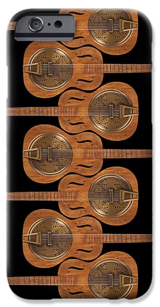 Fine Art Abstract iPhone Cases - Dobro 3 iPhone Case by Mike McGlothlen