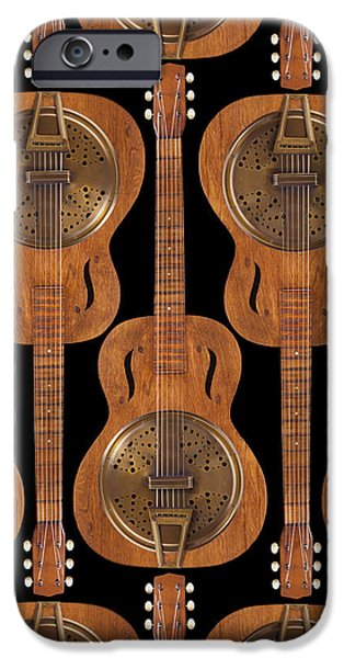 Fine Art Abstract iPhone Cases - Dobro 4 iPhone Case by Mike McGlothlen