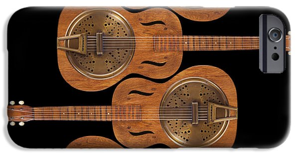 Hand-made iPhone Cases - Dobro 5 iPhone Case by Mike McGlothlen
