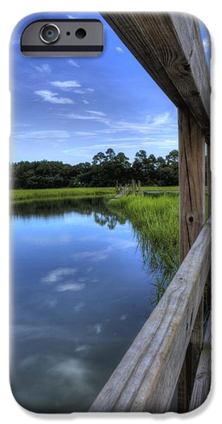 Creek iPhone Cases - Dock Lines iPhone Case by Dustin K Ryan