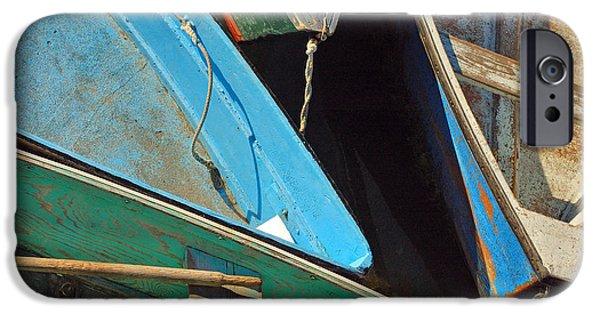 Seacoast iPhone Cases - Docked Rowboats - Rockport Massachusetts iPhone Case by Joann Vitali